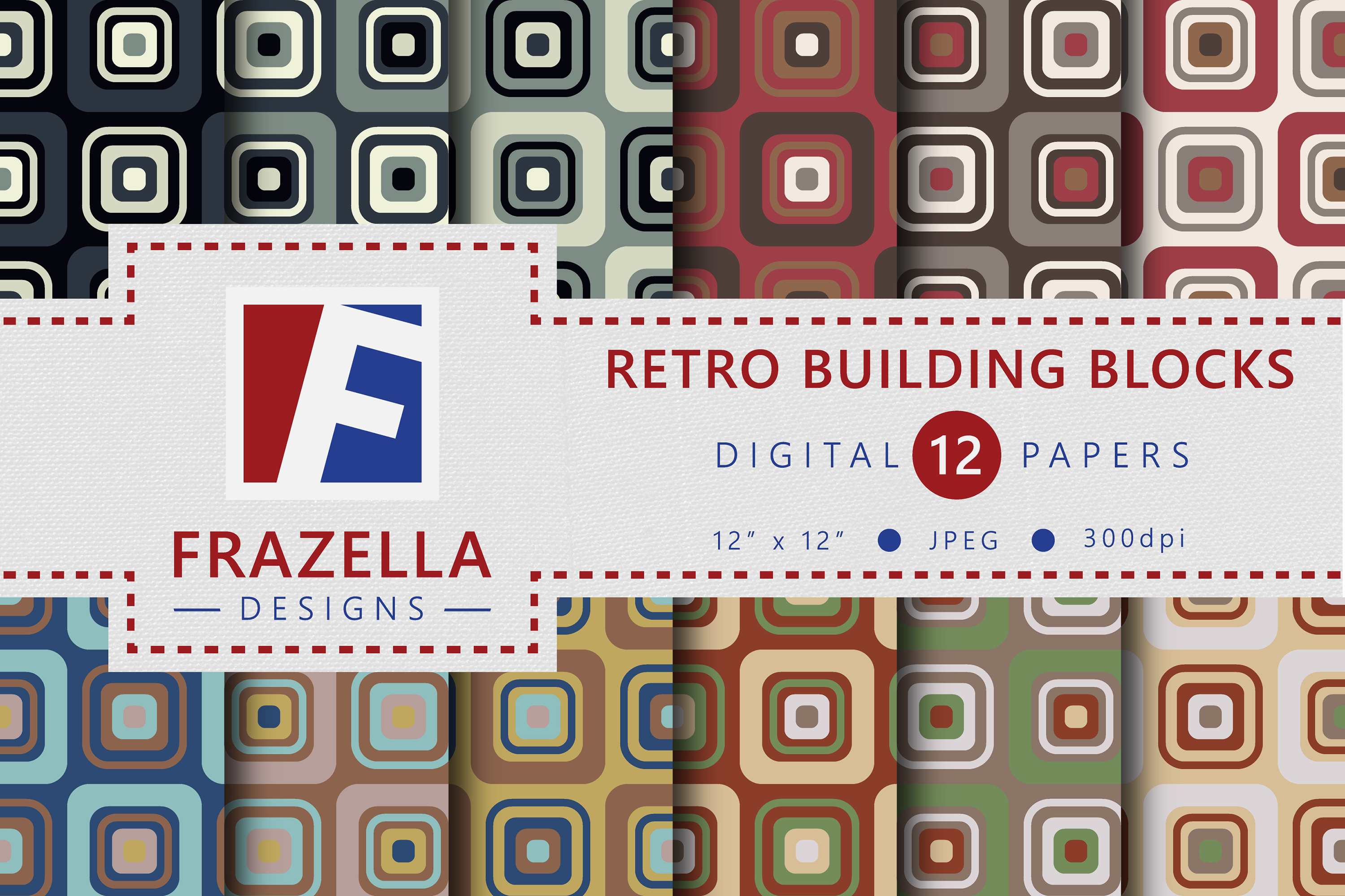 The ULTIMATE Digital Paper Collection Retro Edition Vol. 3. example image 9