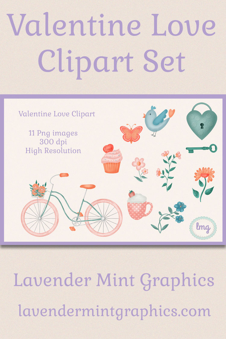 Valentine Love Clipart Sublimation example image 6