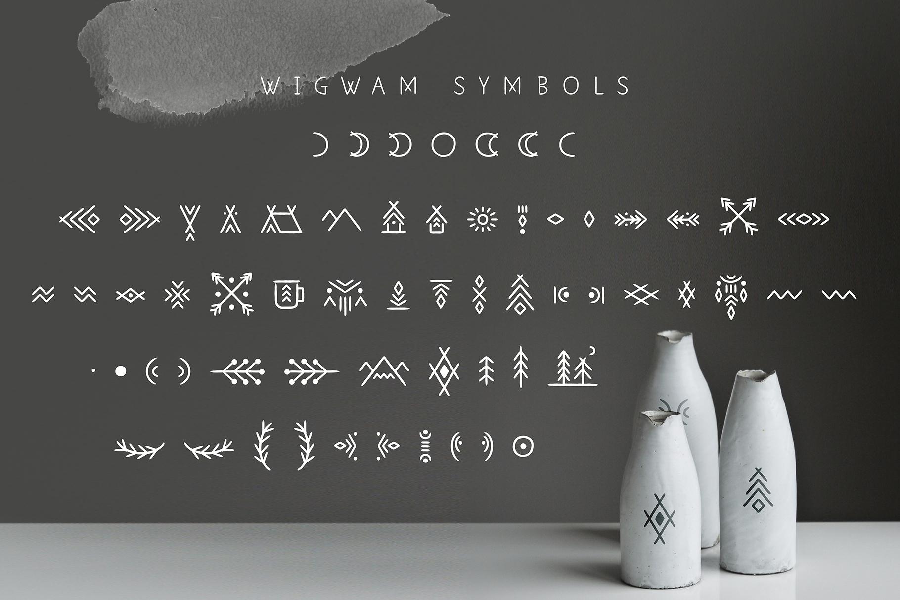 Wigwam - Handwritten Geometric Font example image 7