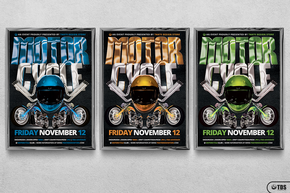 Motorcycle Flyer Template example image 13