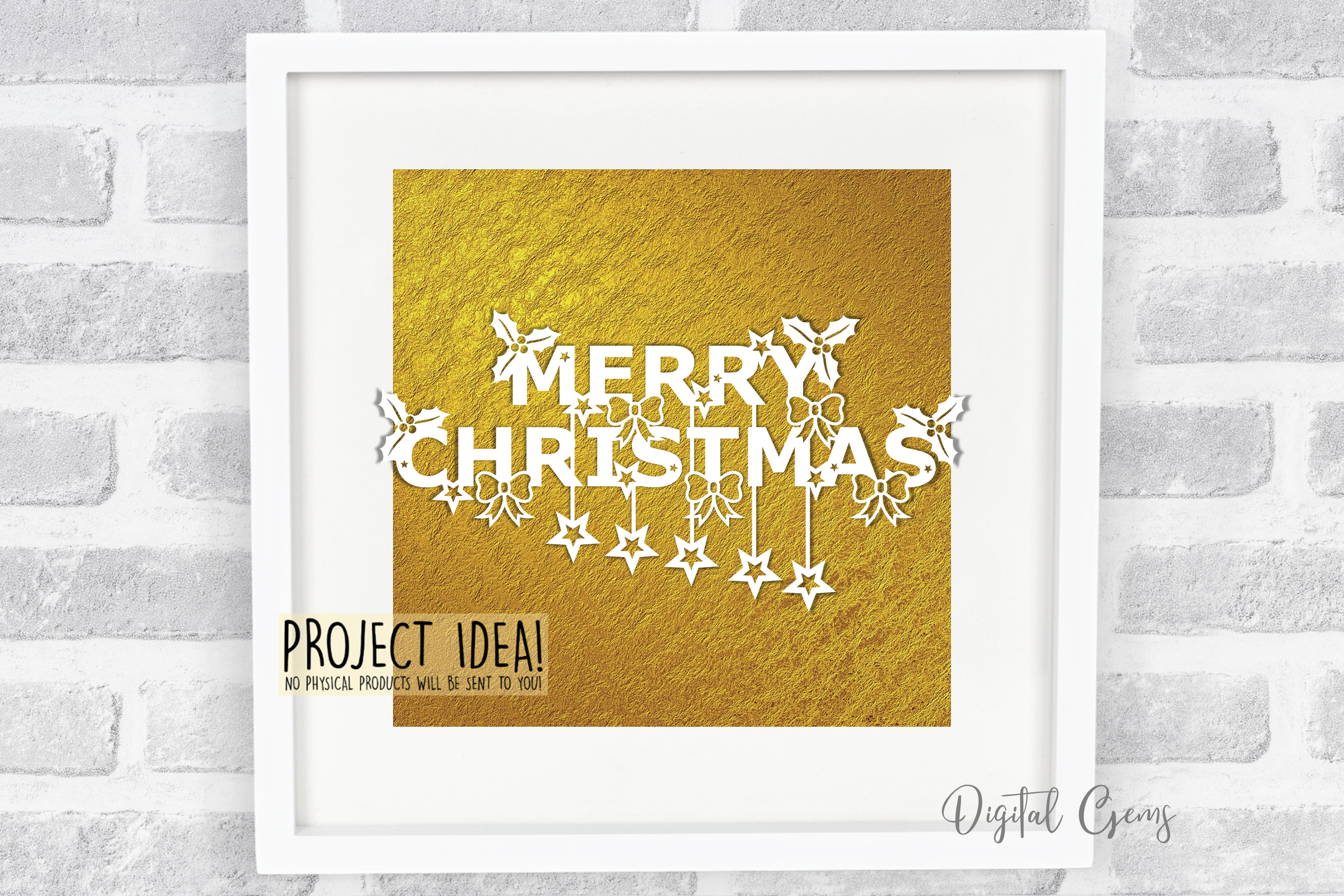 Merry Christmas paper cut SVG / DXF / EPS files example image 3