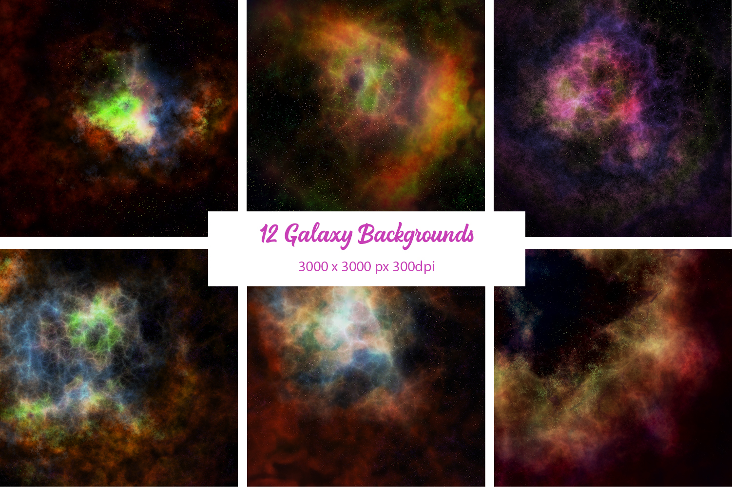 12 Galaxy Backgrounds example image 2