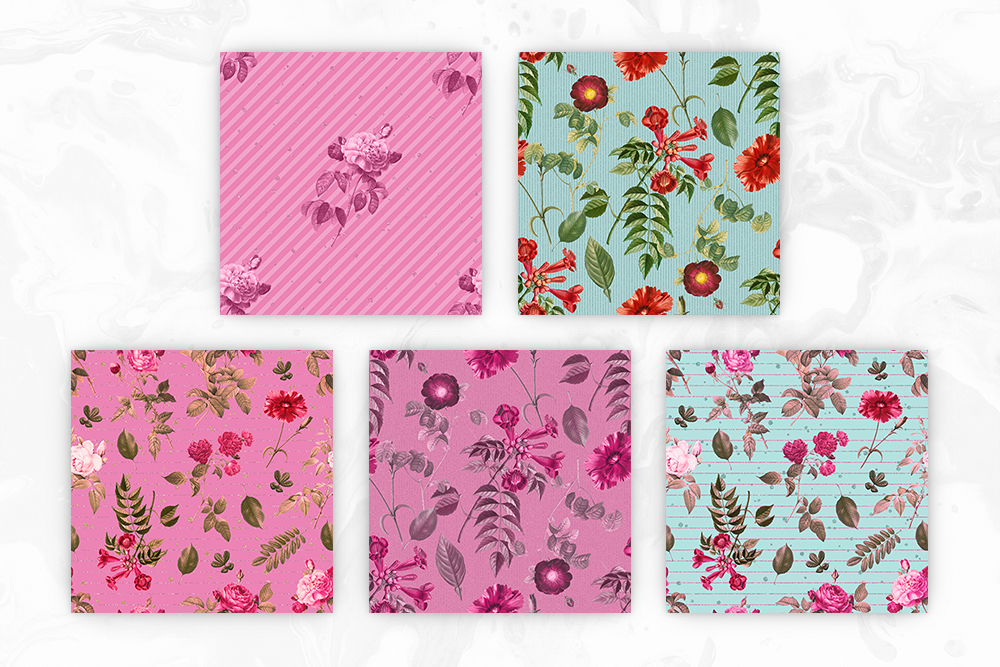 Tileable Floral Vintage Backgrounds example image 3