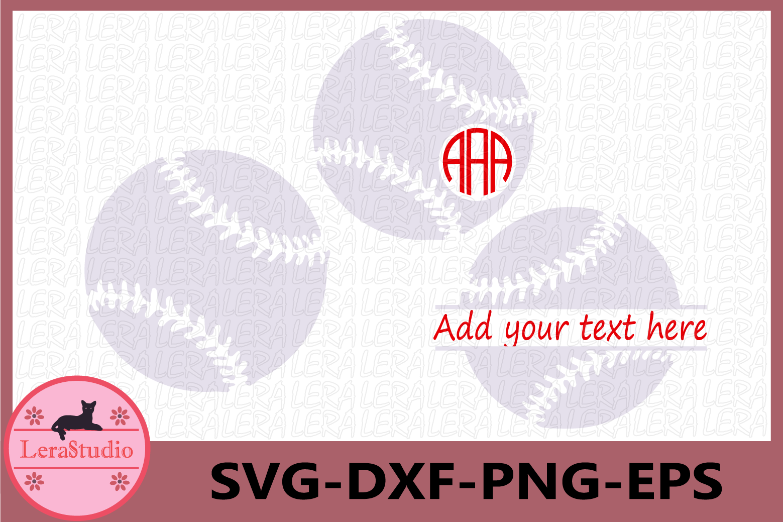 Baseball SVG, Baseball Monogram Svg, Softball Files, mom example image 1