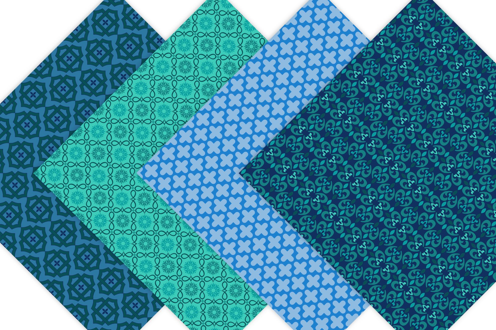Moroccan Digital Paper Patterns example image 5