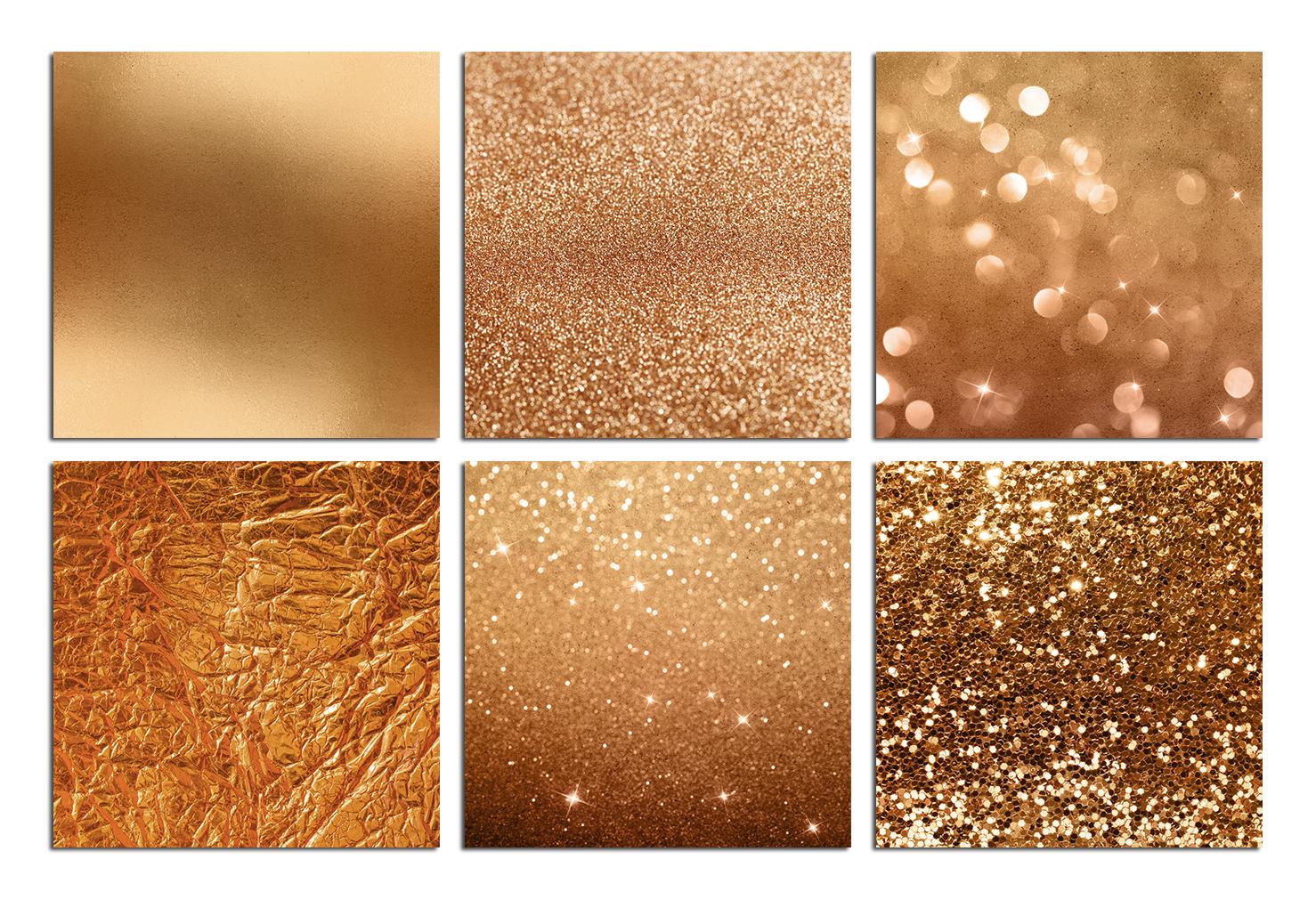Bronze Foil & Glitter Digital Paper example image 3