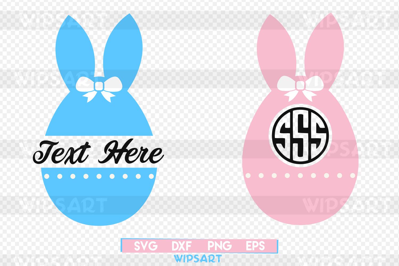 SALE! Easter bunny svg, easter svg, easter monogram svg example image 1