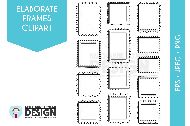 Digital Frames Clipart, Digital Labels Clip art set example image 1