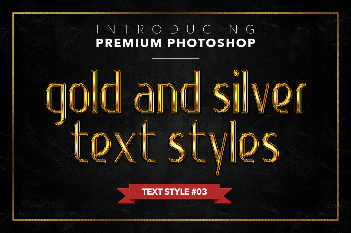 Gold & Silver #1 - 20 Text Styles example image 21