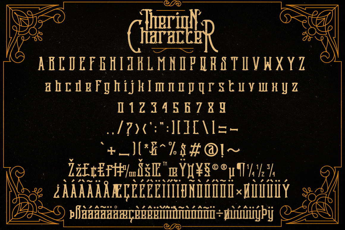Therion Typeface + Ornament Bonus example image 5