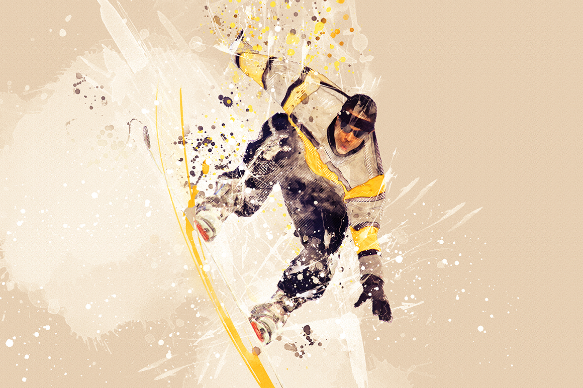 Sports Modern Art Photoshop Action example image 10