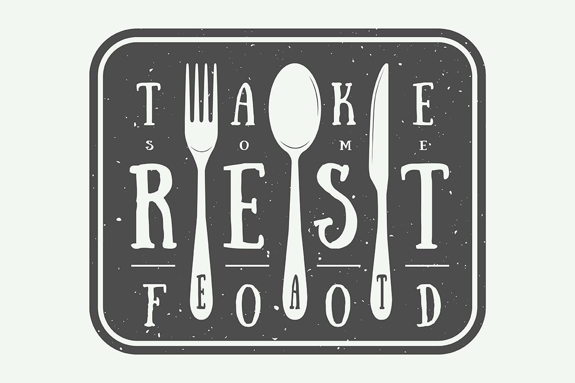 Vintage Restaurant Emblems Bundle example image 3