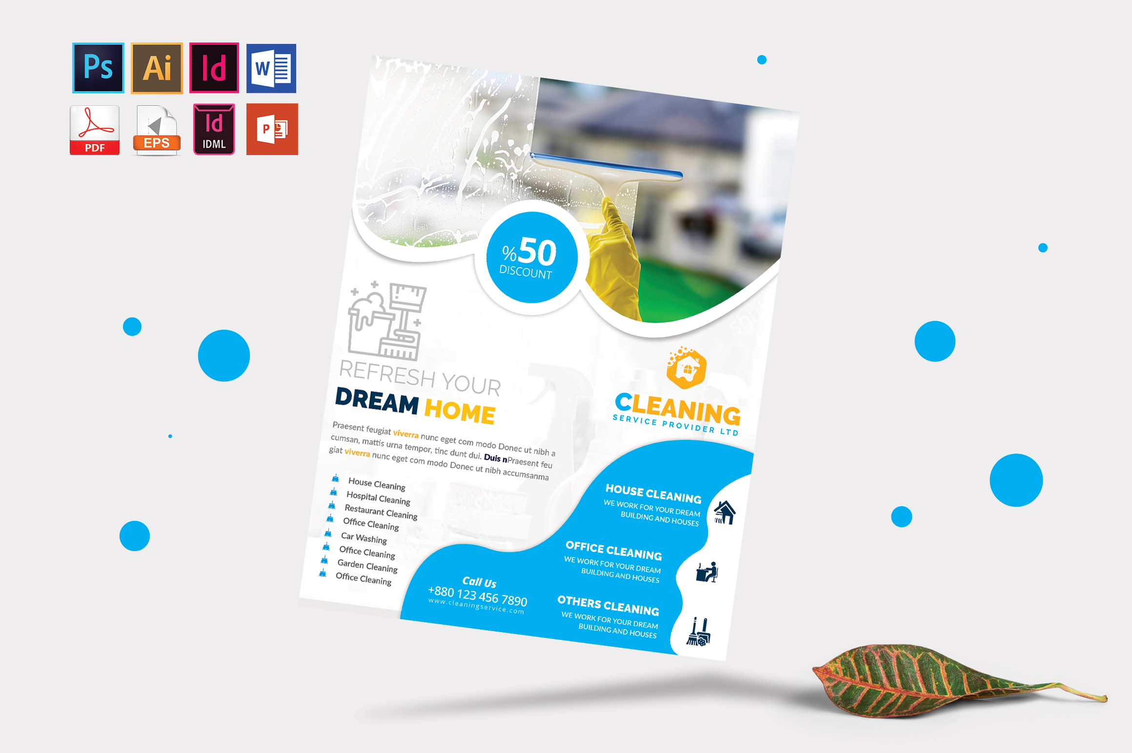 Cleaning Service Flyer Vol-04 example image 3