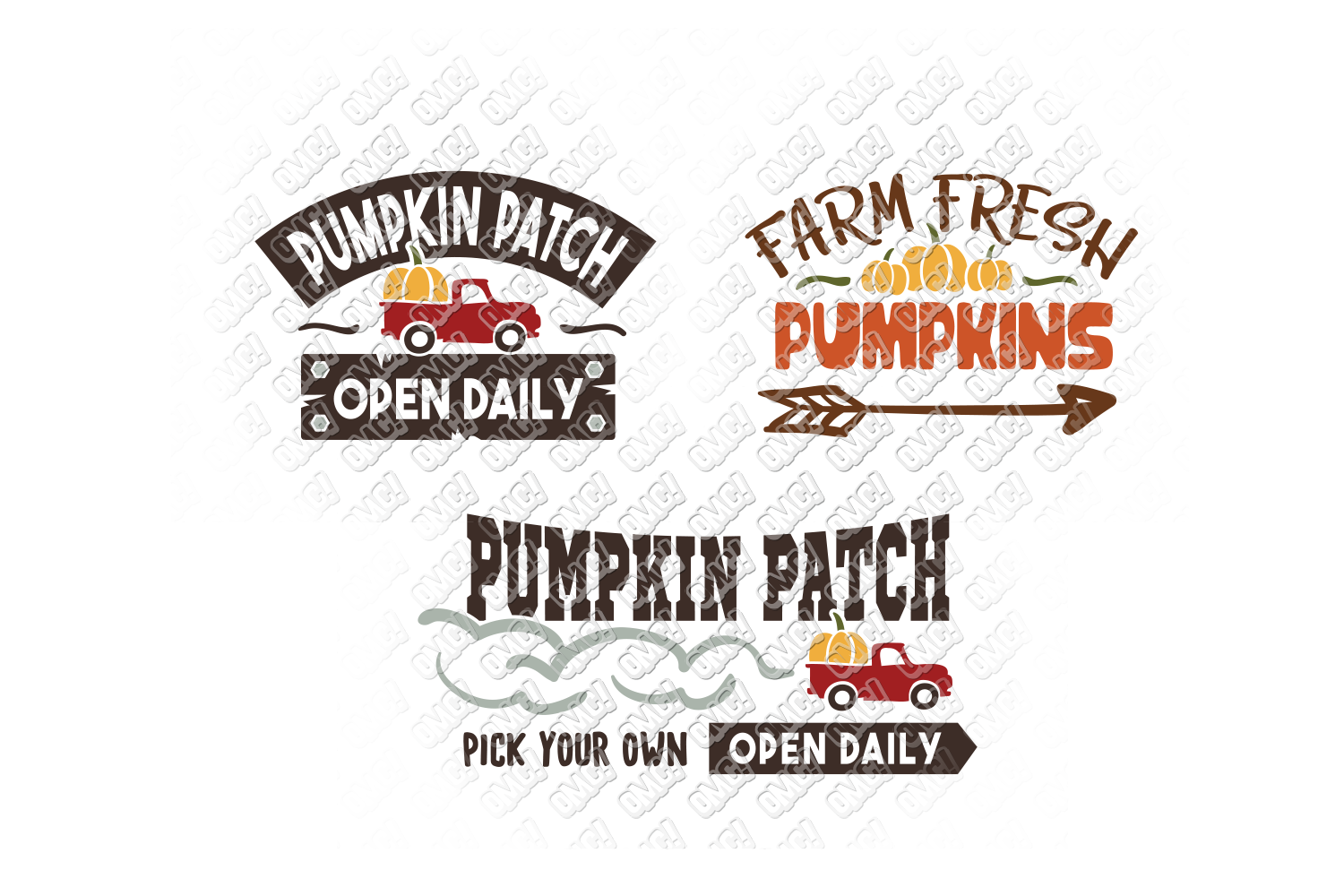 Pumpkin Patch SVG Thanksgiving in SVG, DXF, PNG, EPS, JPG example image 3