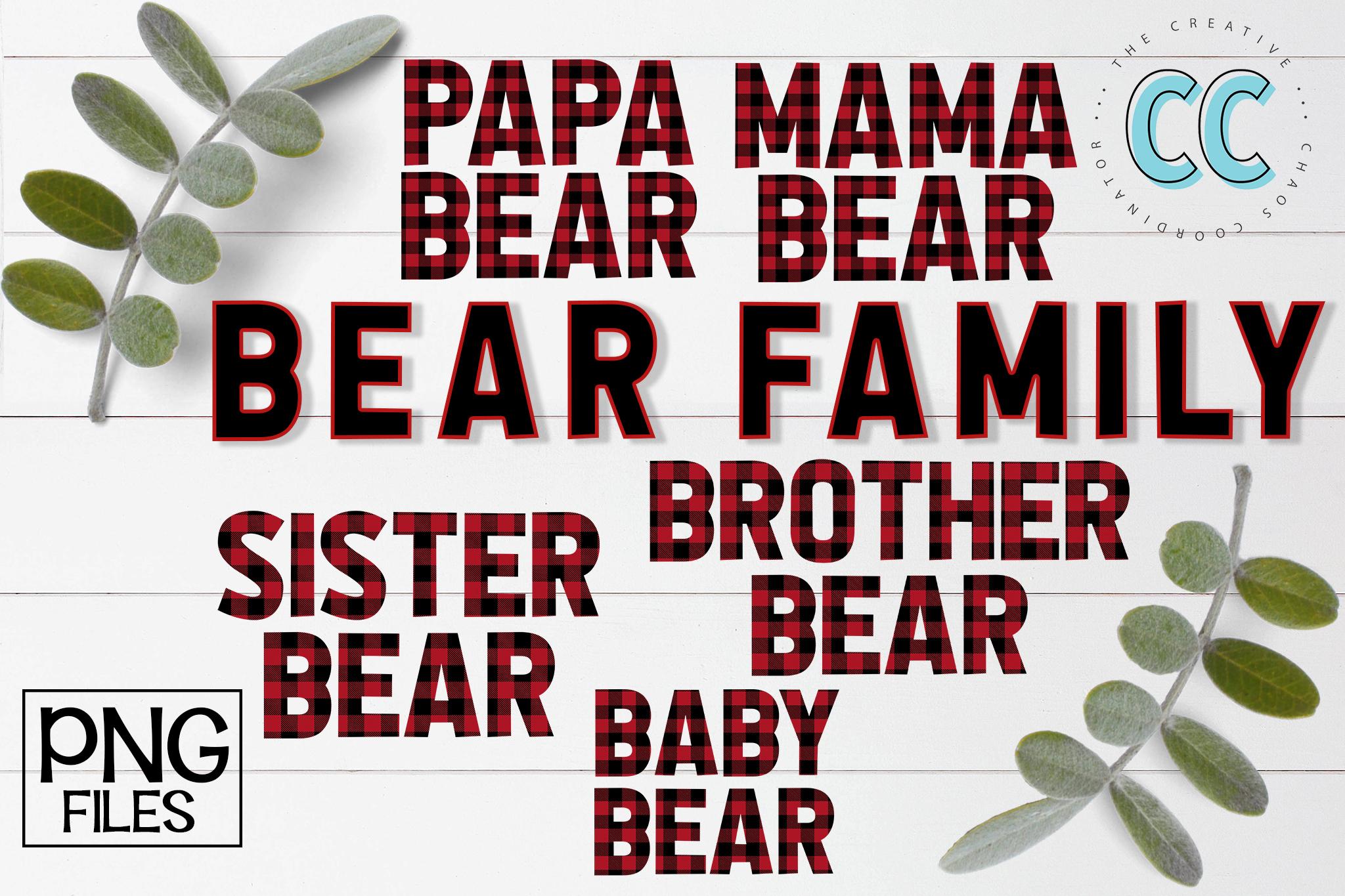 Plaid Bear Family example image 1