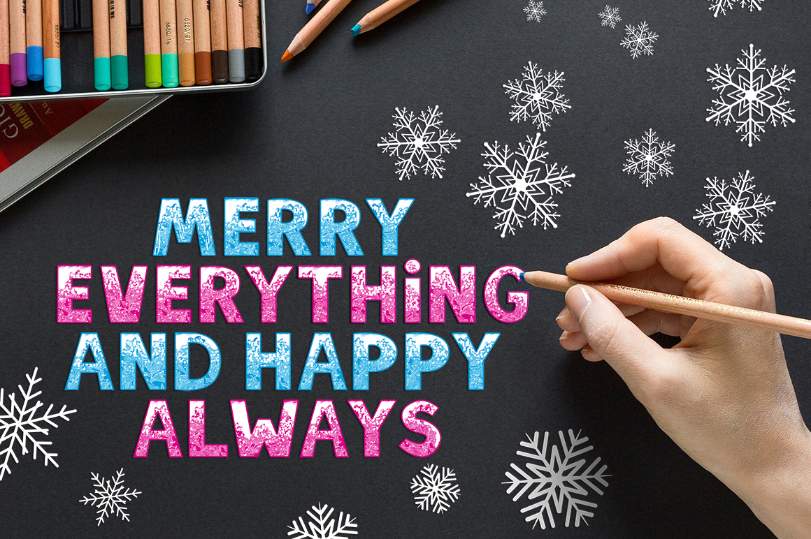 SNOW - Font Family for Christmas! example image 5
