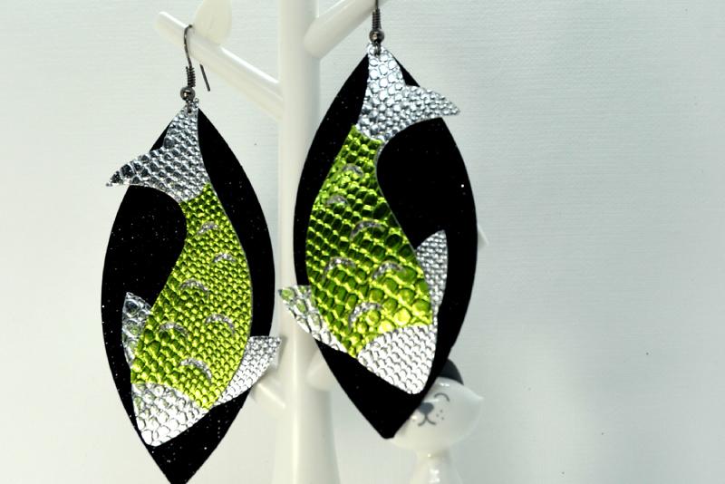 Fish earrings template SVG, DIY earrings template example image 3