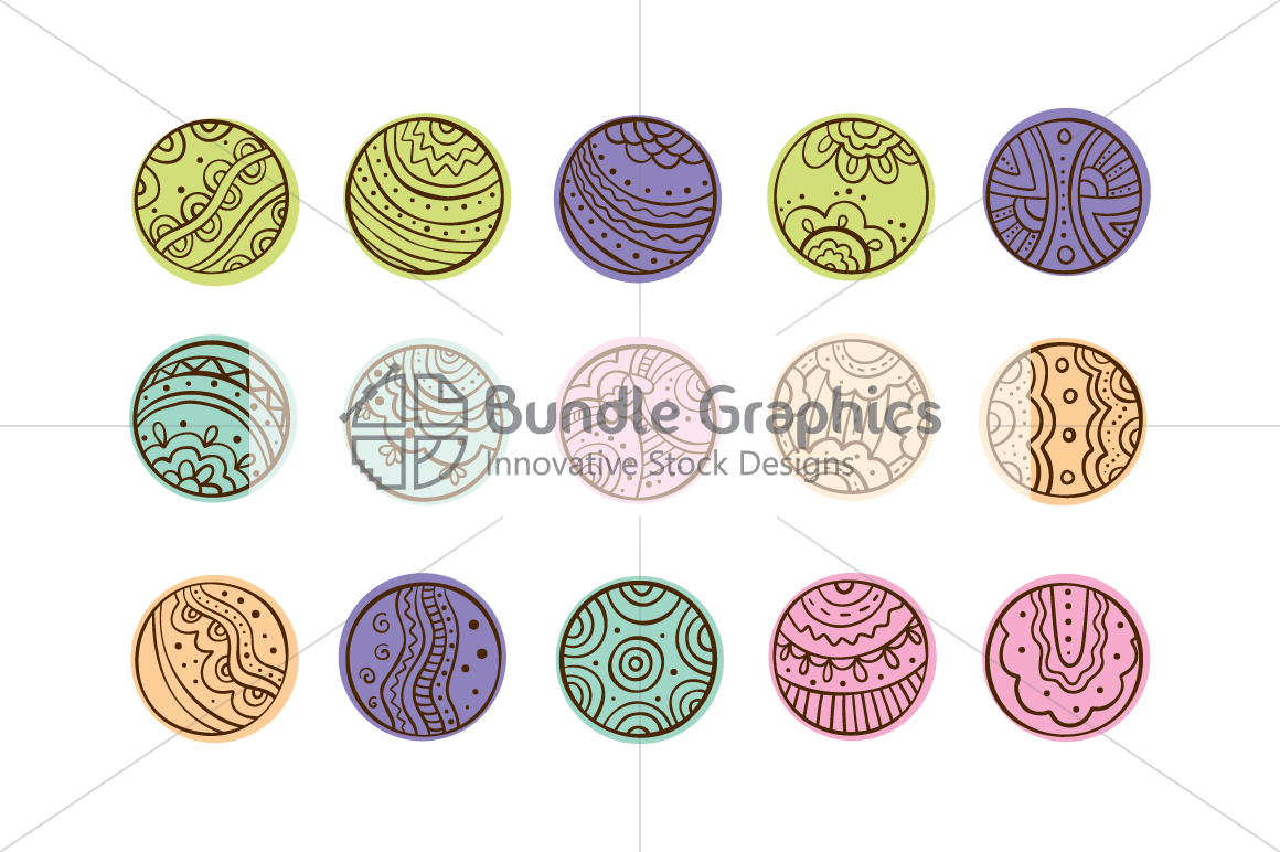 Tribal Graphic Circles  - Decorative Seamless Background example image 4