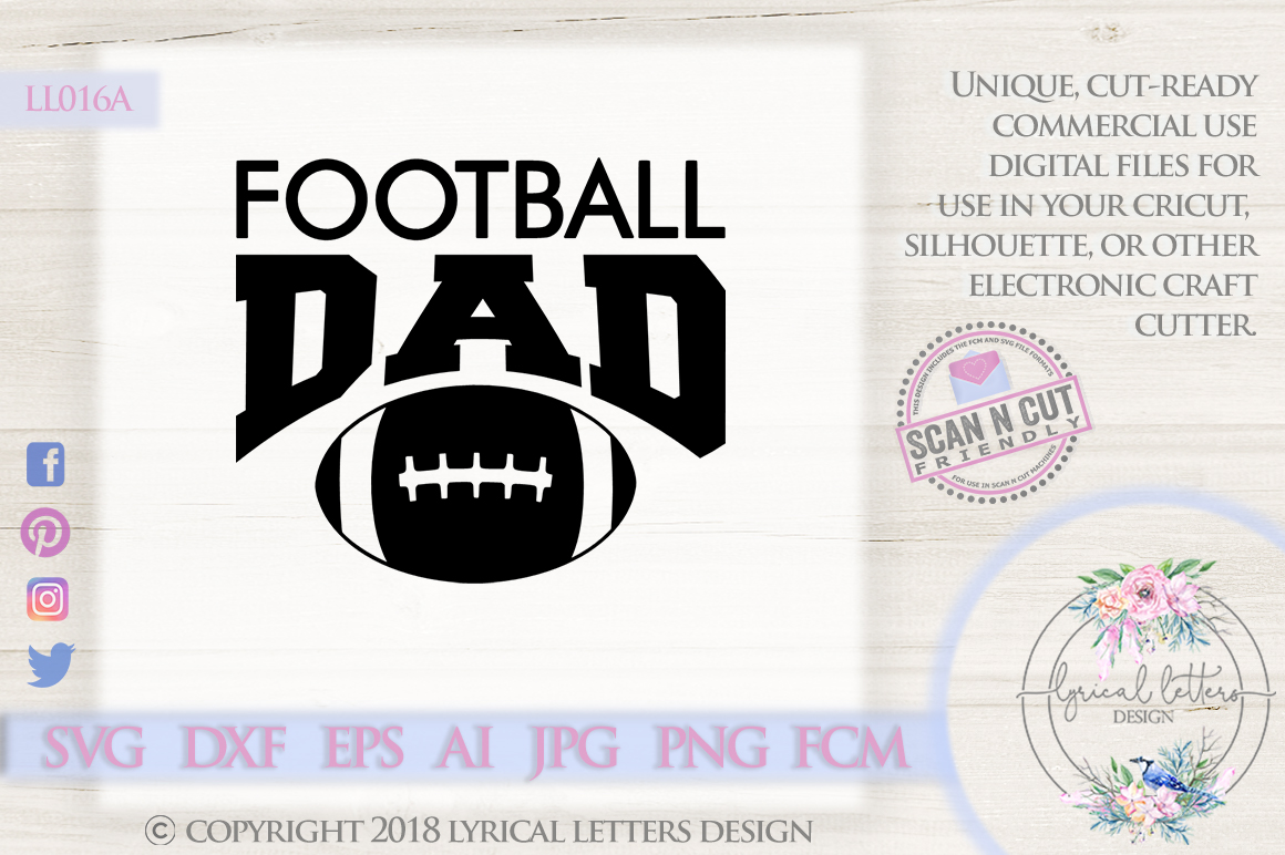 Football Dad Sports SVG DXF Cut File LL016A example image 1