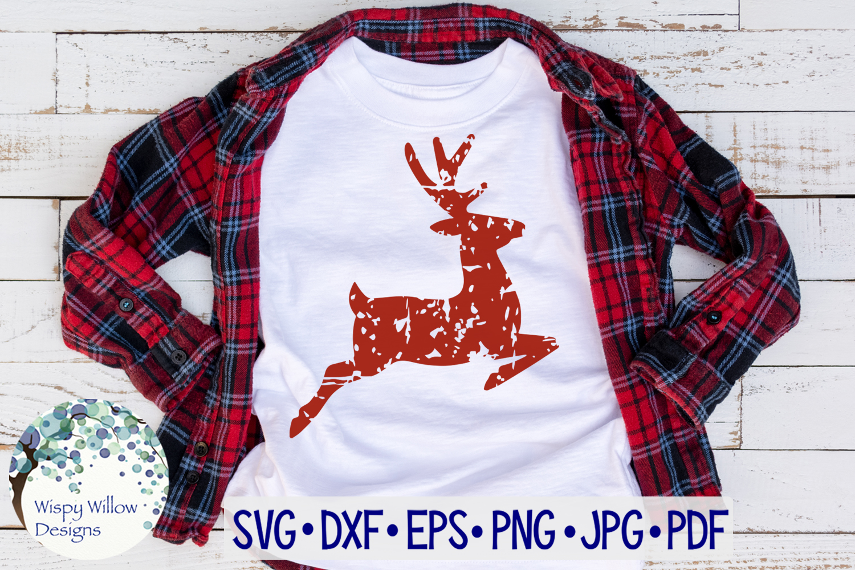 Distressed Grunge Reindeer | Christmas SVG example image 2