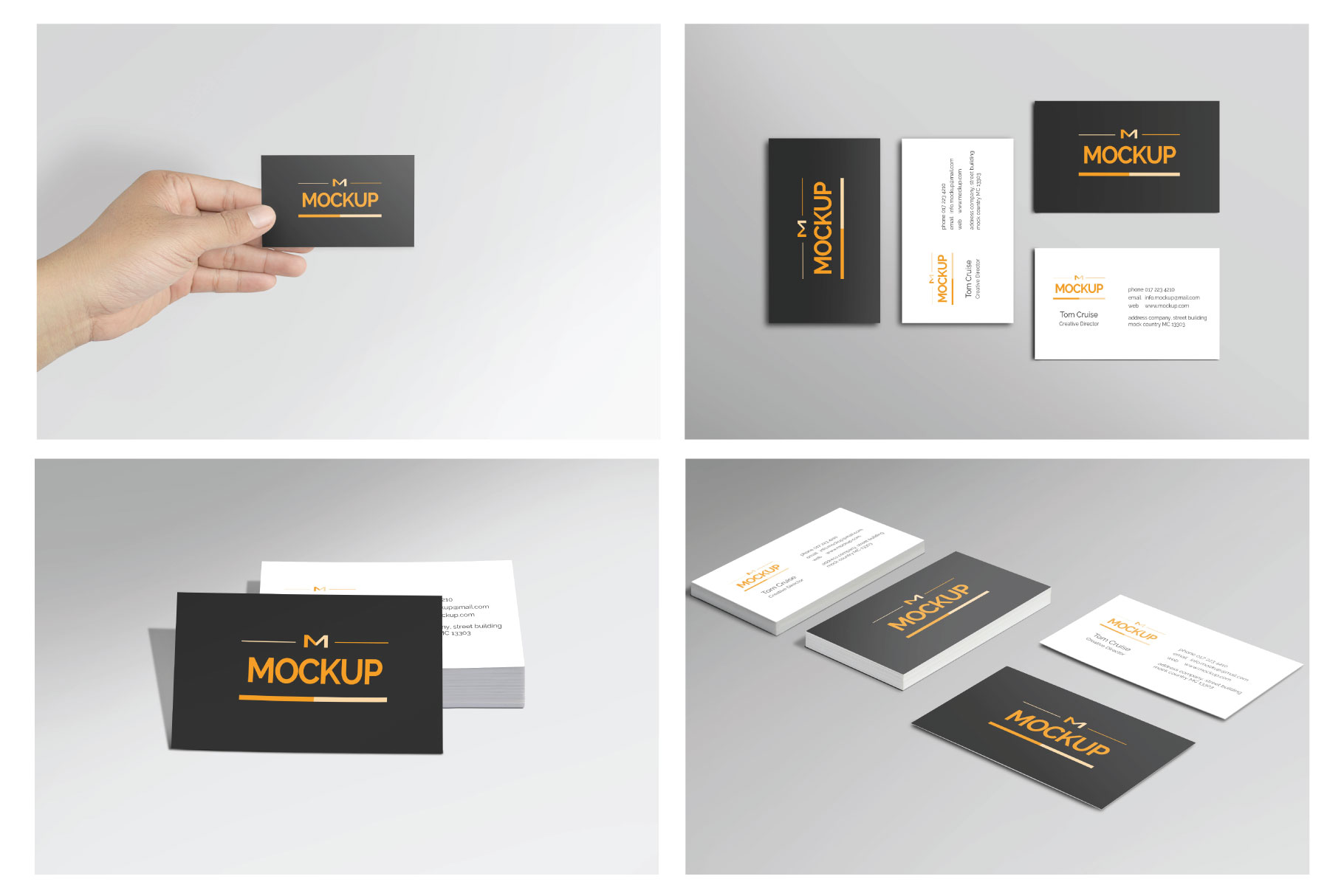 6 Style Business Card Mockups example image 10