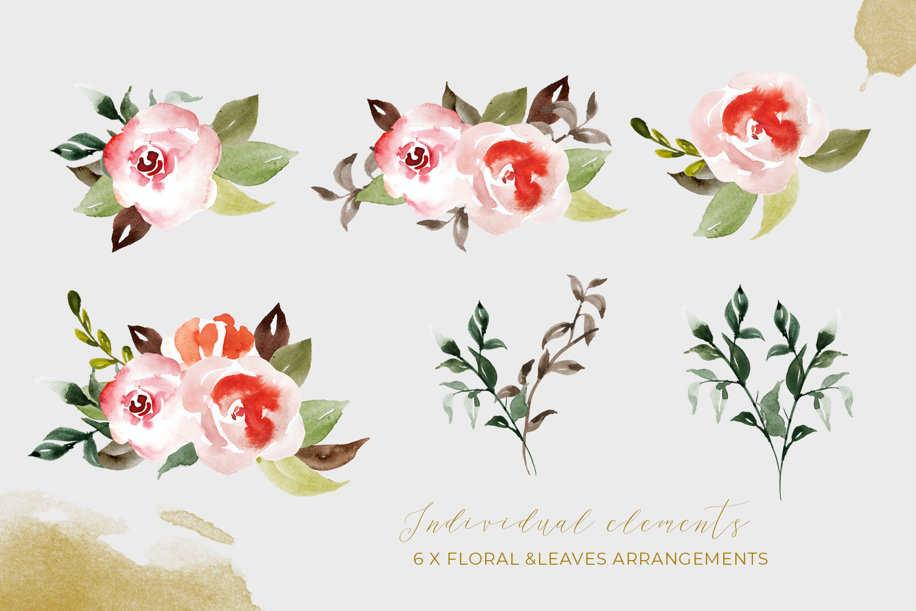 Watercolor Flower Clipart example image 3