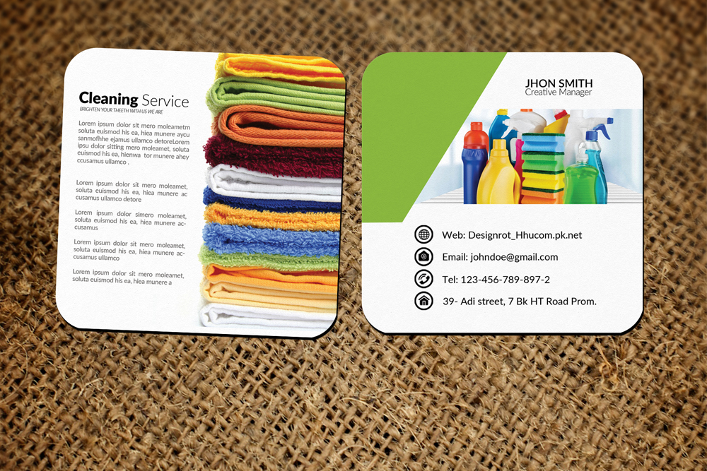 Cleaning Service Small Business Cards example image 1