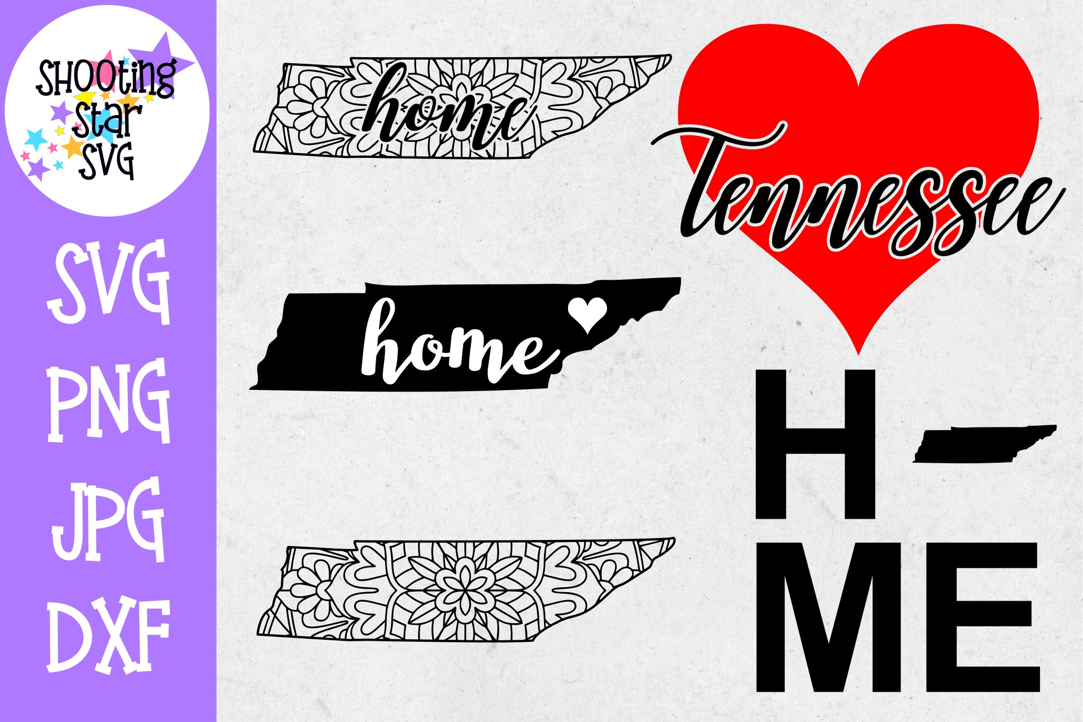 Tennessee US State SVG Decal Bundle - 50 States SVG example image 1
