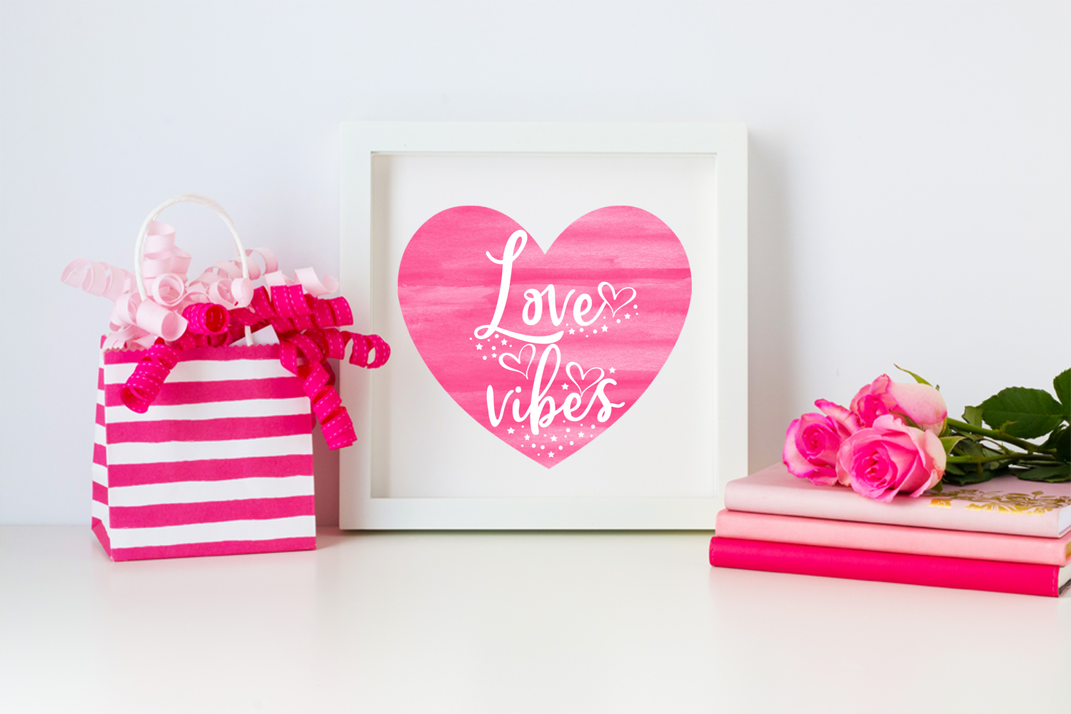 Valentines Day Cards-Posters-Tags-Heart Overlay Cliparts example image 8