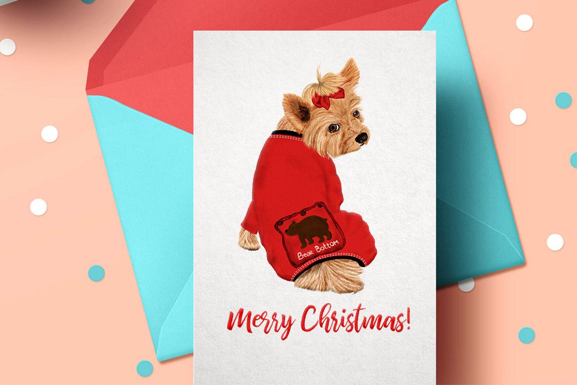 Watercolor Christmas Family Clipart Christmas Mug designs example image 2