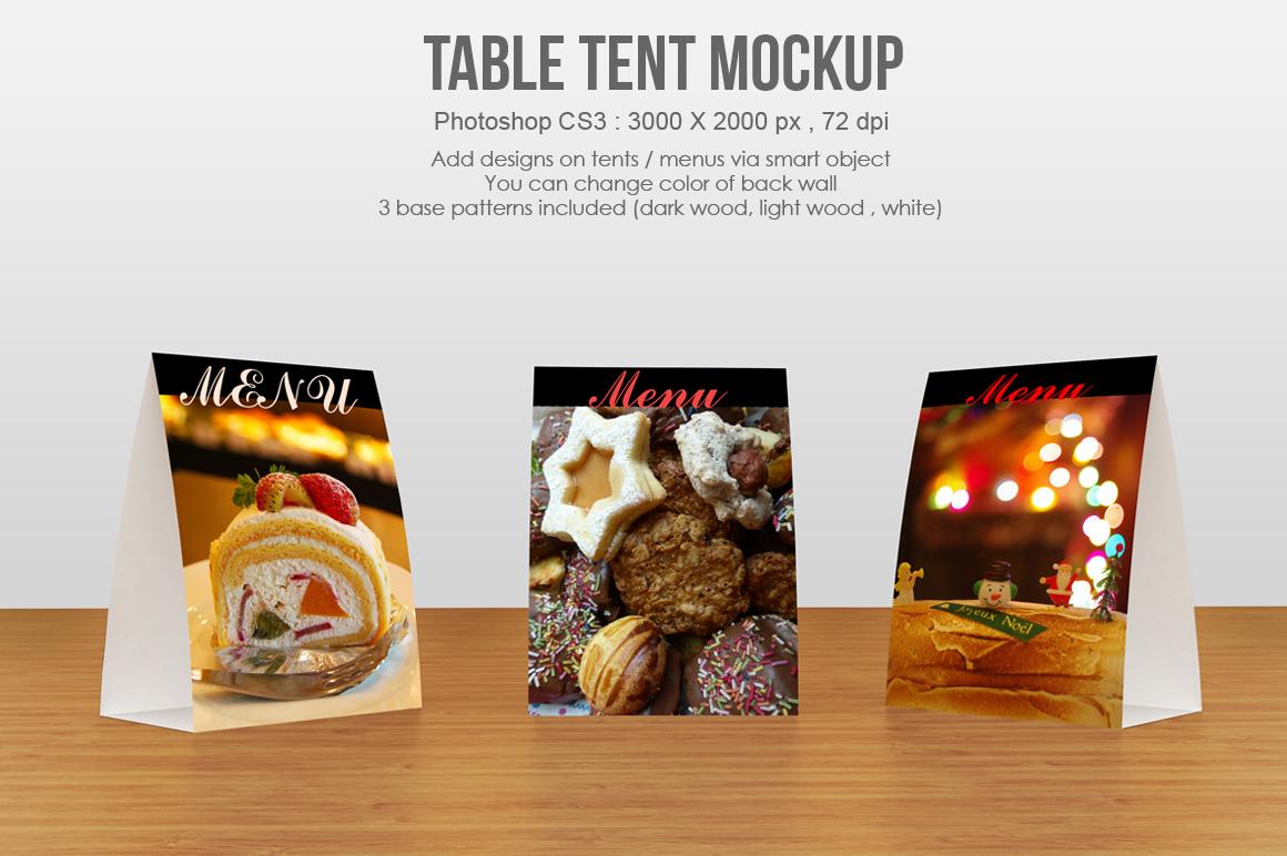 table tent menu mockup by aivos design bundles