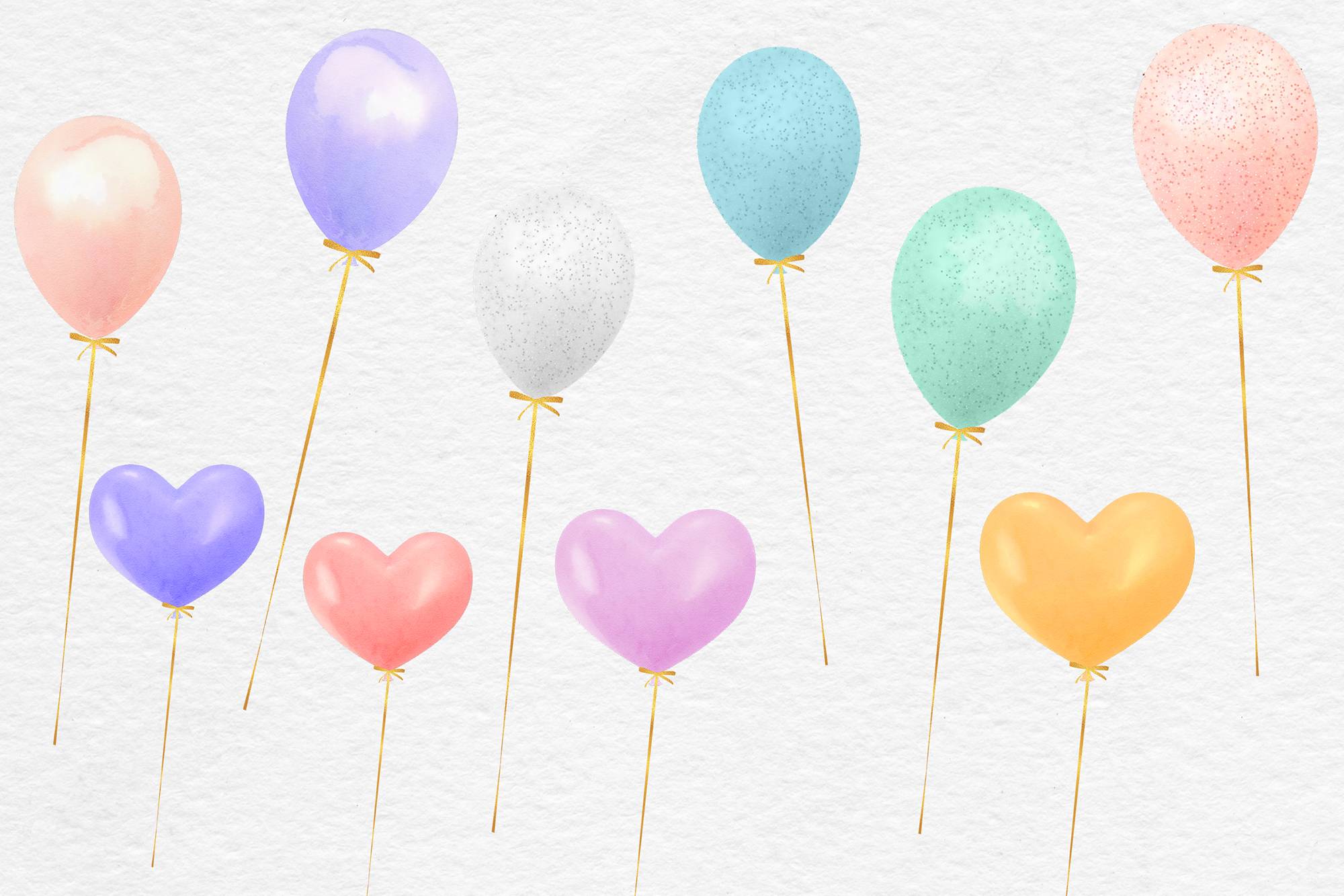 Watercolor Balloons Clipart example image 2