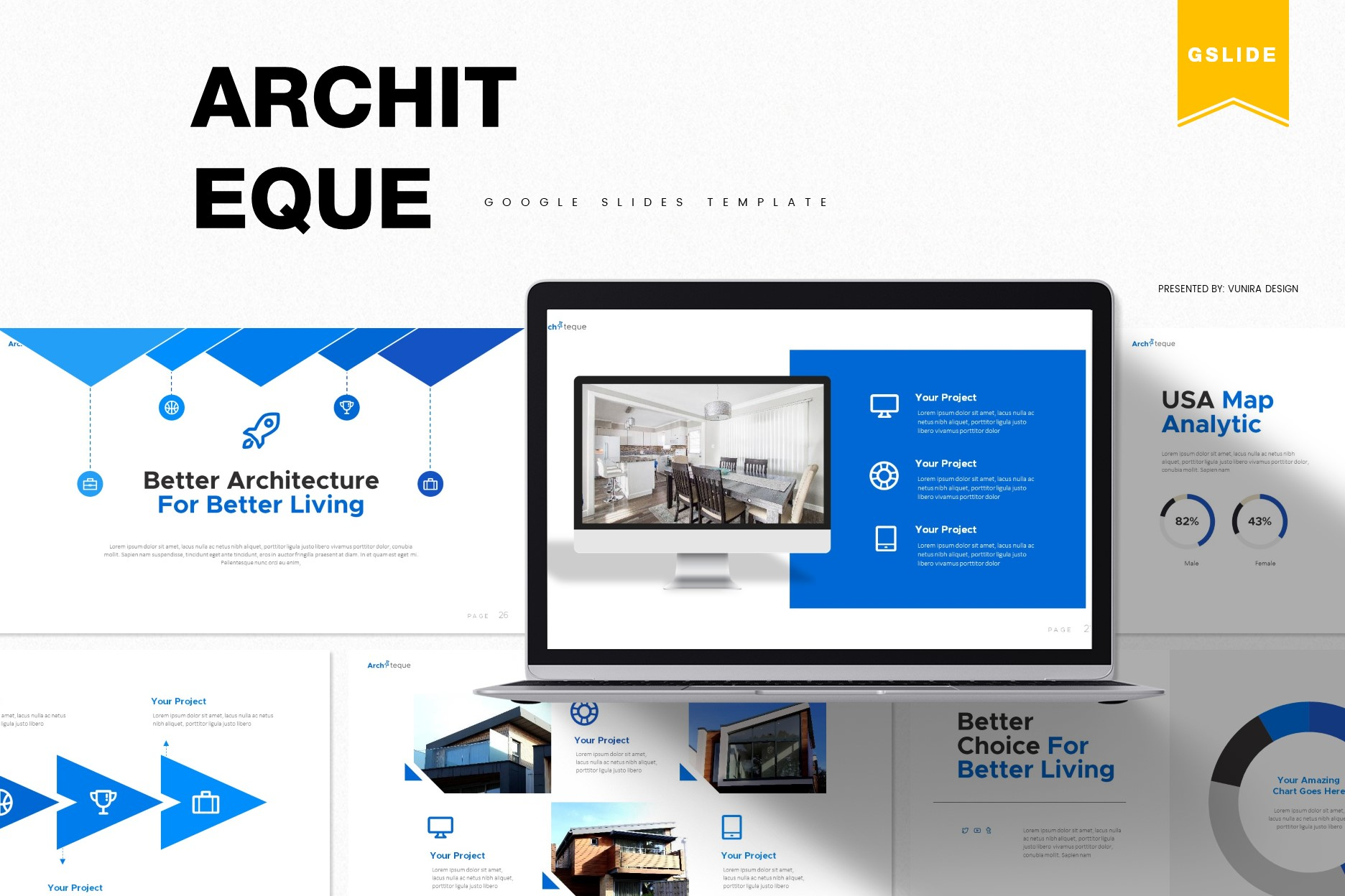 Architeque | Powerpoint, Keynote, GoogleSlides Template example image 3