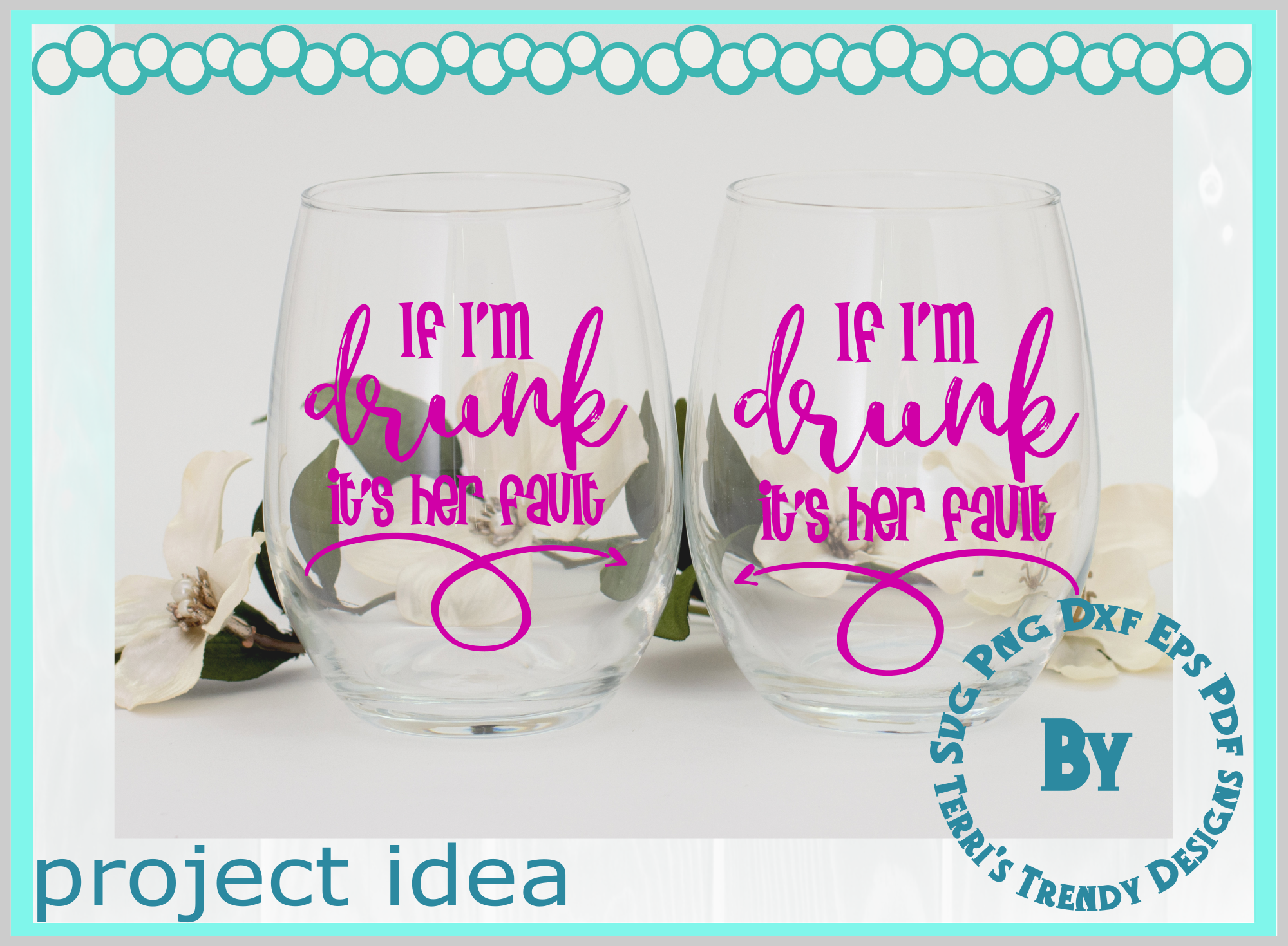 Funny bundle svg If I'm drunk His Her fault Bride Groom crew example image 7