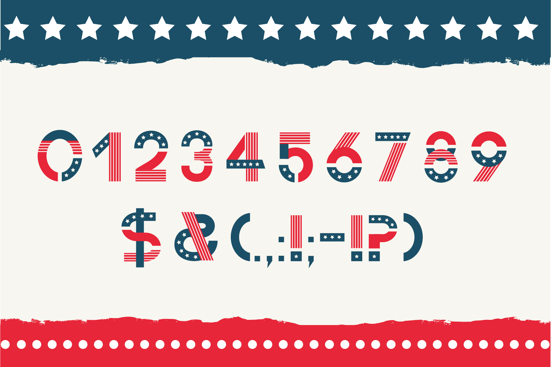America otf color font example image 4