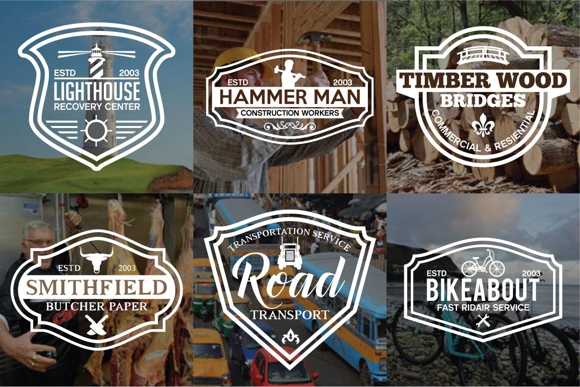 60 Vintage Bundle Logos Labels & Badges example image 9