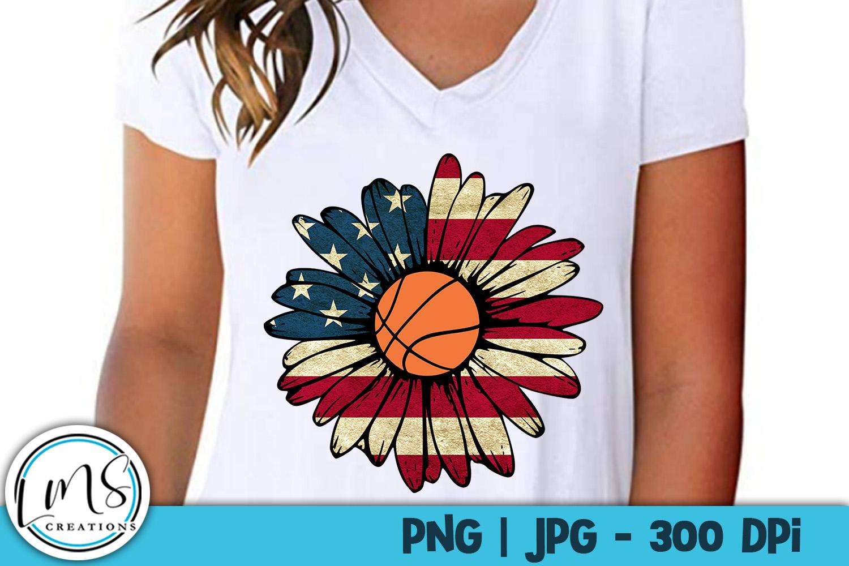 Patriotic Sunflower Sports Bundle PNG, JPG, Sublimation example image 3