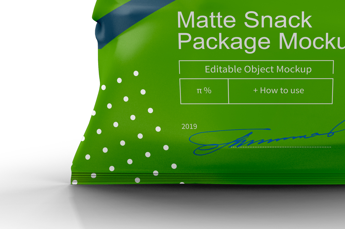 Matte Snack Package Mockup example image 6