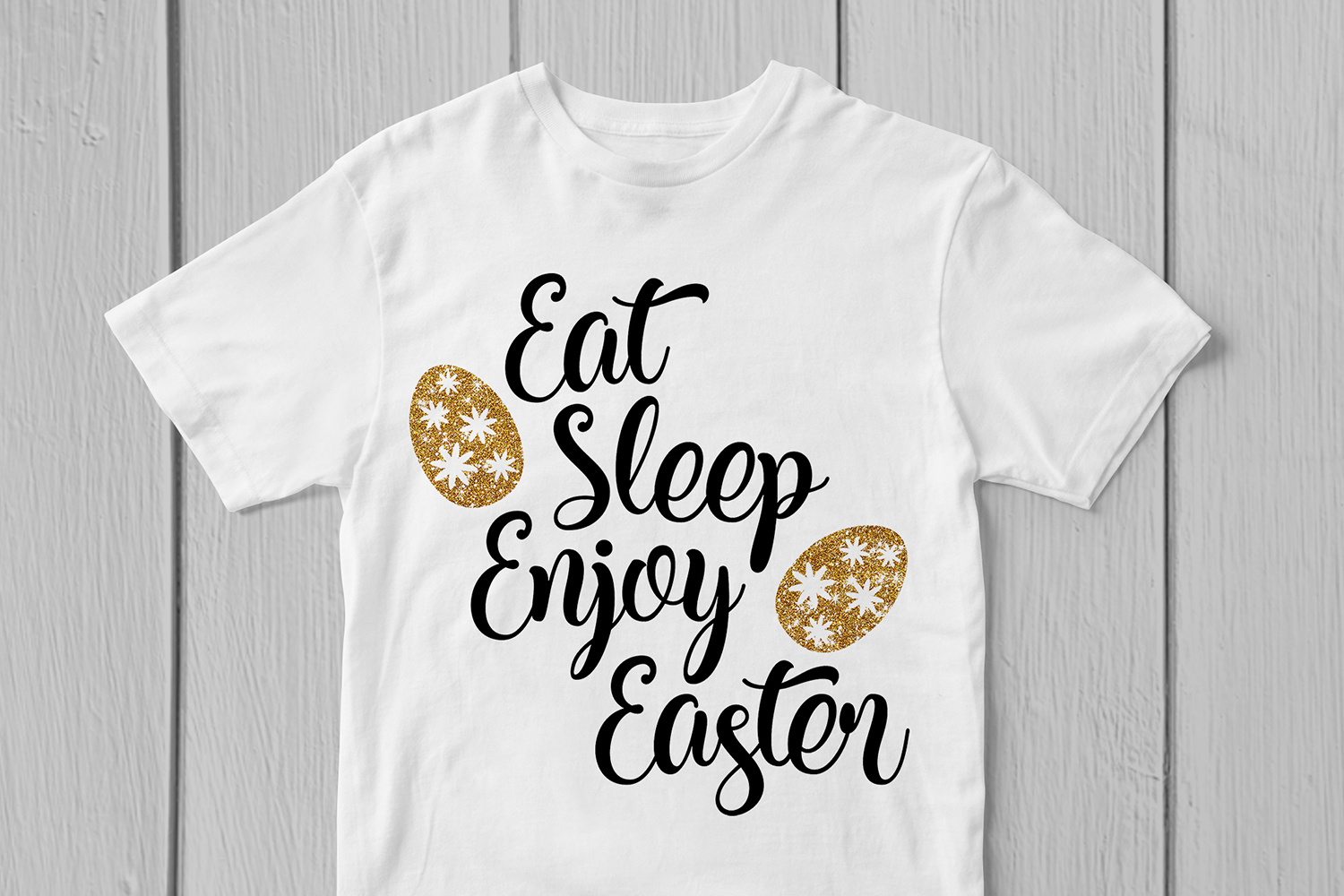 Eat Sleep Enjoy Easter - Easter SVG EPS DXF PNG Cut Files example image 3