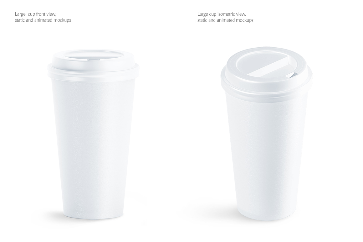 Large Coffee Cup Animated Mockup example image 3