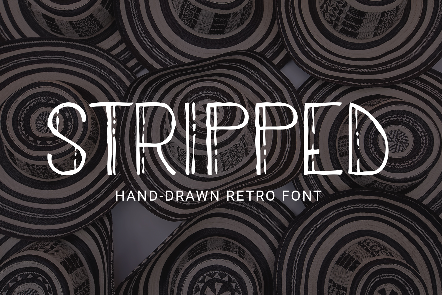 Stripped - A Thin Retro Font example image 1