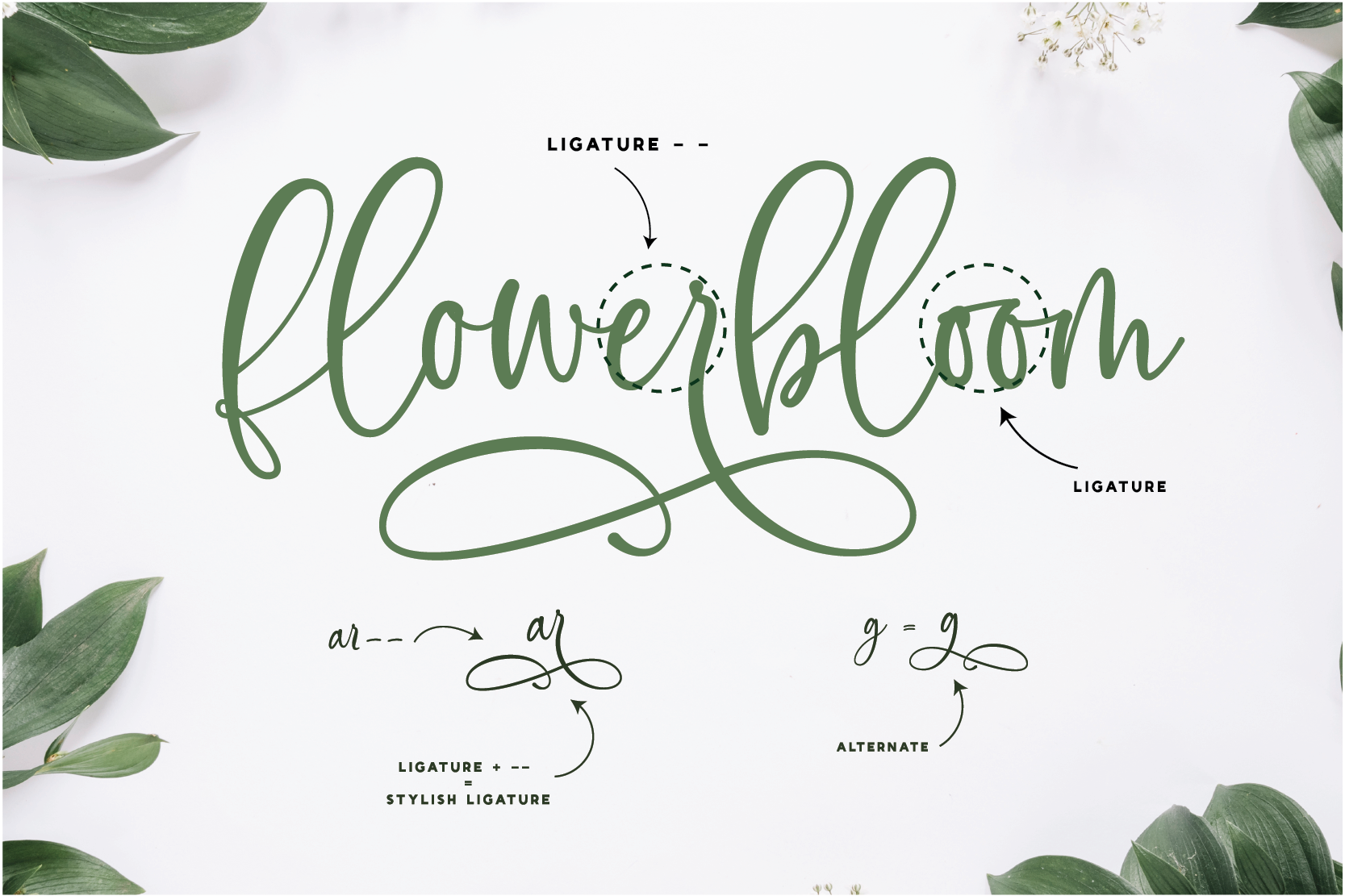 Flowerbloom Font Trio example image 8