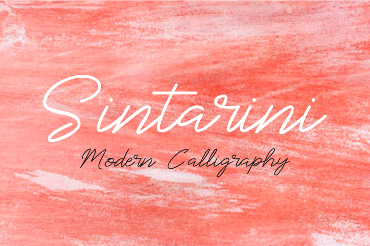 Sintarini Typeface example image 1