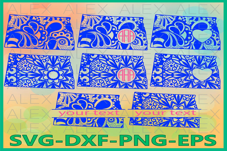 North Dakota State SVG, North Dakota Mandala SVG example image 1