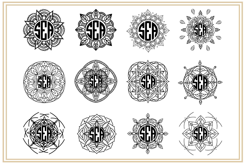 Mandala Monogram. EPS, PNG, SVG example image 3