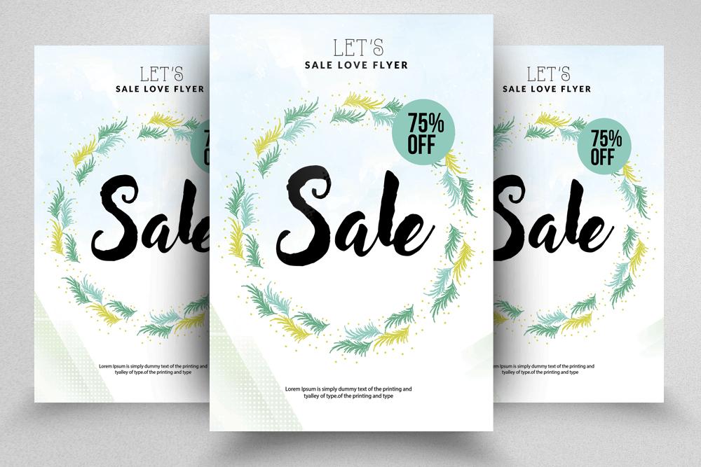 4 Sale Typography Flyers Bundle example image 4