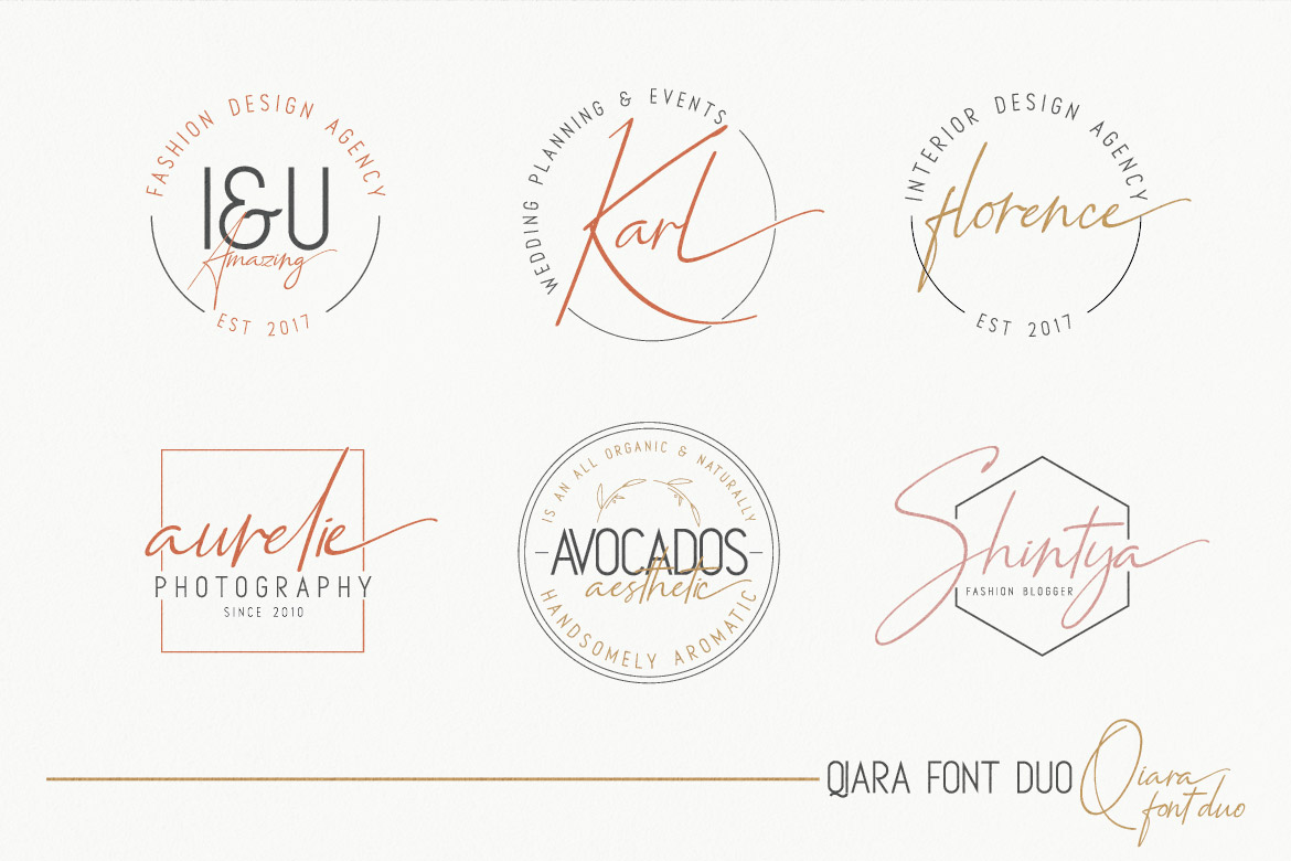 Qiara Collections Font Duo example image 6
