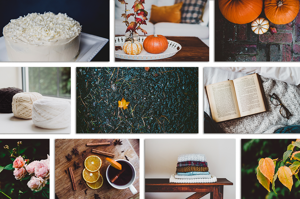 Fall-Inspired Photos & Quote Bundle example image 7