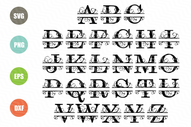 Split Letters A Z SVG Alphabet Example Image 2