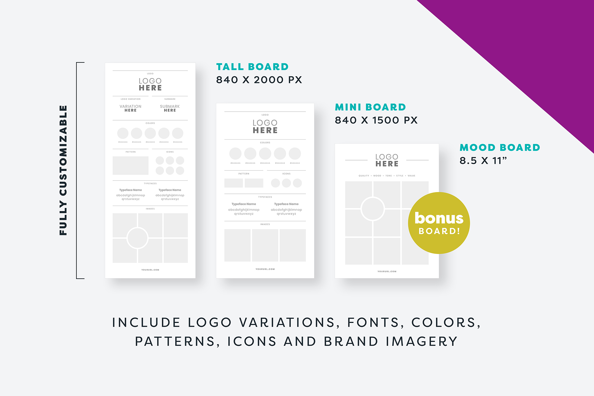 Brand Board Template for Canva and Photoshop example image 2